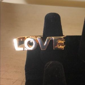 "Jewelry - Gold tone ""Love"" Fashion Ring Sz. 7-8"